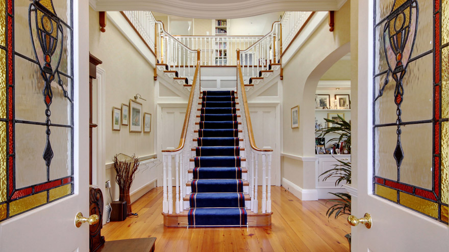 Stairs in the entrance hall