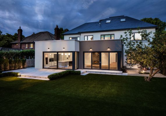 Residential Architectural Exterior at Twilight